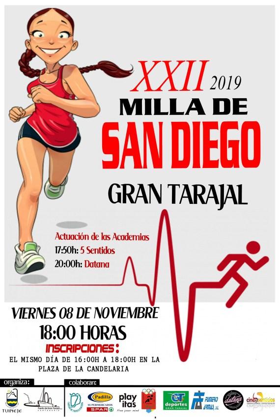 Cartel XXII Milla San Diego Gran Tarajal