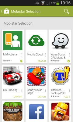Google Play Store - Mobistar Selection