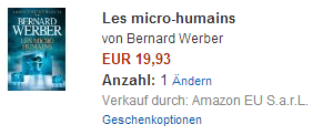 Bernard Werber - Les micro humains - Amazon.de