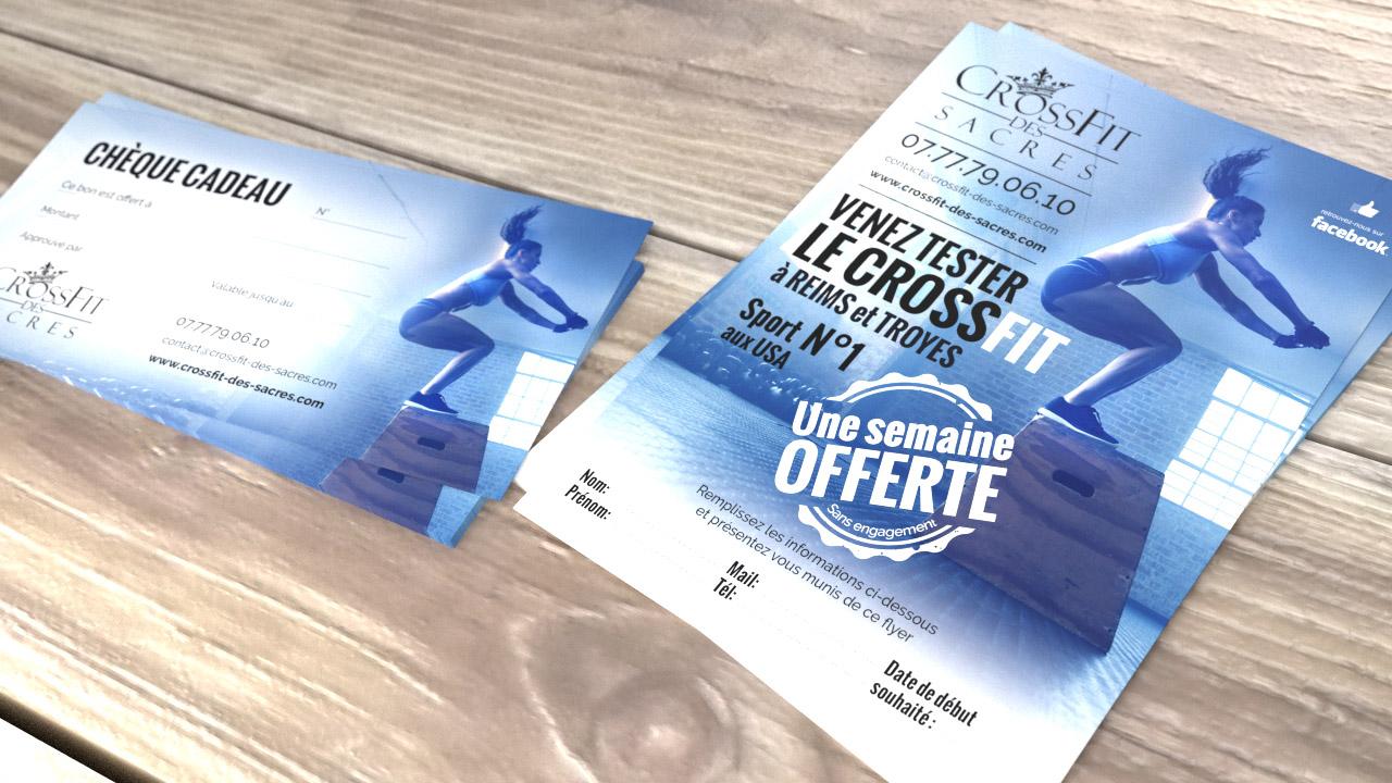 Supports Publicitaires CrossFit Des Sacres TiBo Graphiste