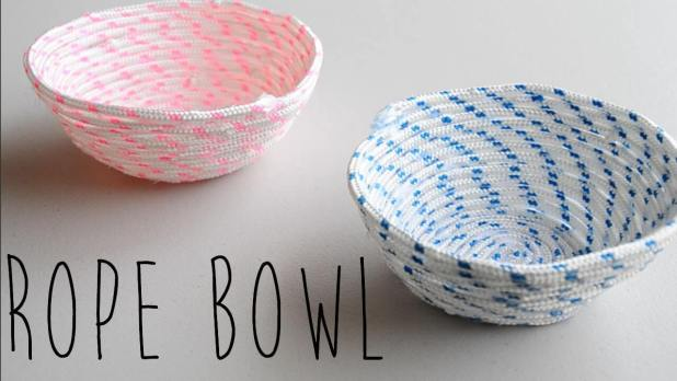 make diy rope bowls