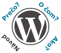 WordPress - logo - nápis