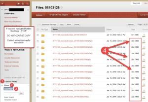Replicates Files in Blackboard