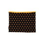Cuello polar tipo braga de estrellas en amarillo sobre negro, protege del frío a niños y bebés.