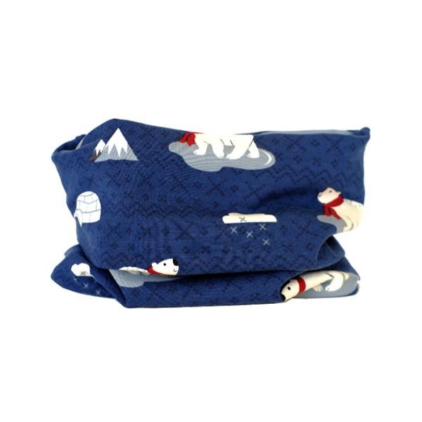 Cuello tipo braga de Oso polar. Ideal para proteger del frío en otoño y primavera a los niños