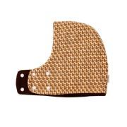 Gorro bufanda de ardillas en marrón y blanco. Ideal para proteger del frío a niños de 1 año aproximadamente.