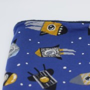 Cuello polar tipo braga de cohetes en azul