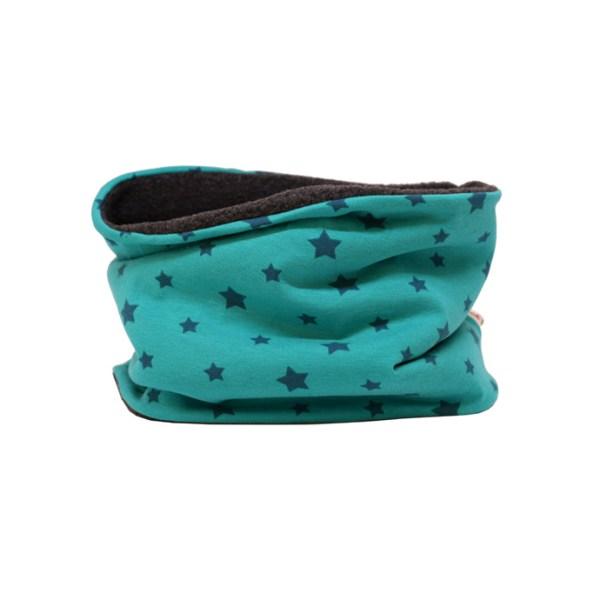 Cuello polar de estrellas en verde, ideal para proteger del frío a los niños en invierno