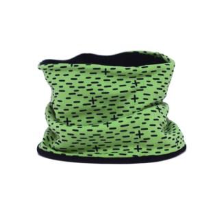 Cuello polar tipo braga con estampado minimalista en verde. Protege del frío a tus hijos en invierno.