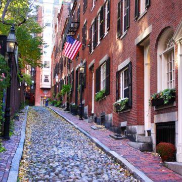 Beacon Hill, una de las calles más fotografiadas de Boston. Foto www.vrbo.com