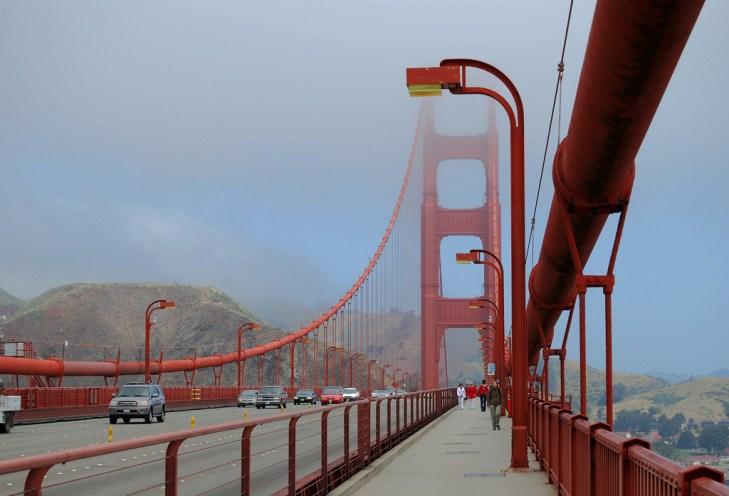 walking the golden bridge