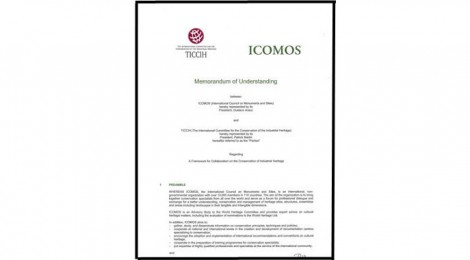 Memorandum of Understanding between ICOMOS and TICCIH