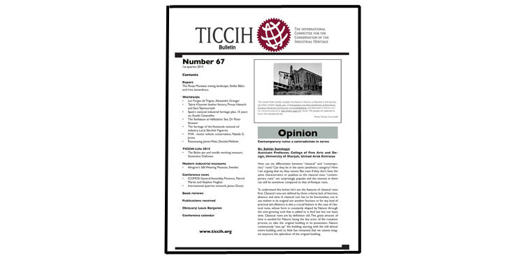 TICCIH: The International Committee for the Conservation