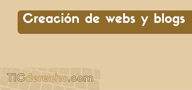 Creación de webs y blogs