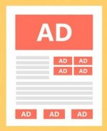 illustration of ads on webpage