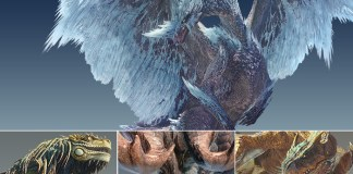Several monsters from Monster Hunter World: Iceborne.
