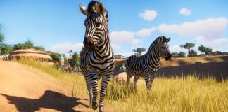 Two zebras from Planet Zoo