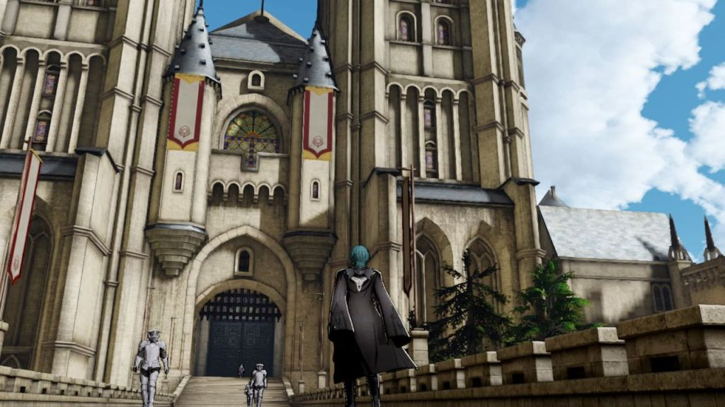 An image of the monastery Garreg Mach in Fire Emblem: Three Houses.