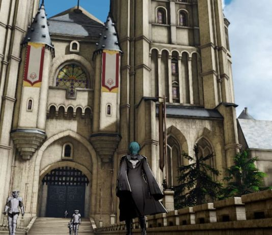 An image of the monastery Garreg Mach in Fire Emblem: Three Houses.