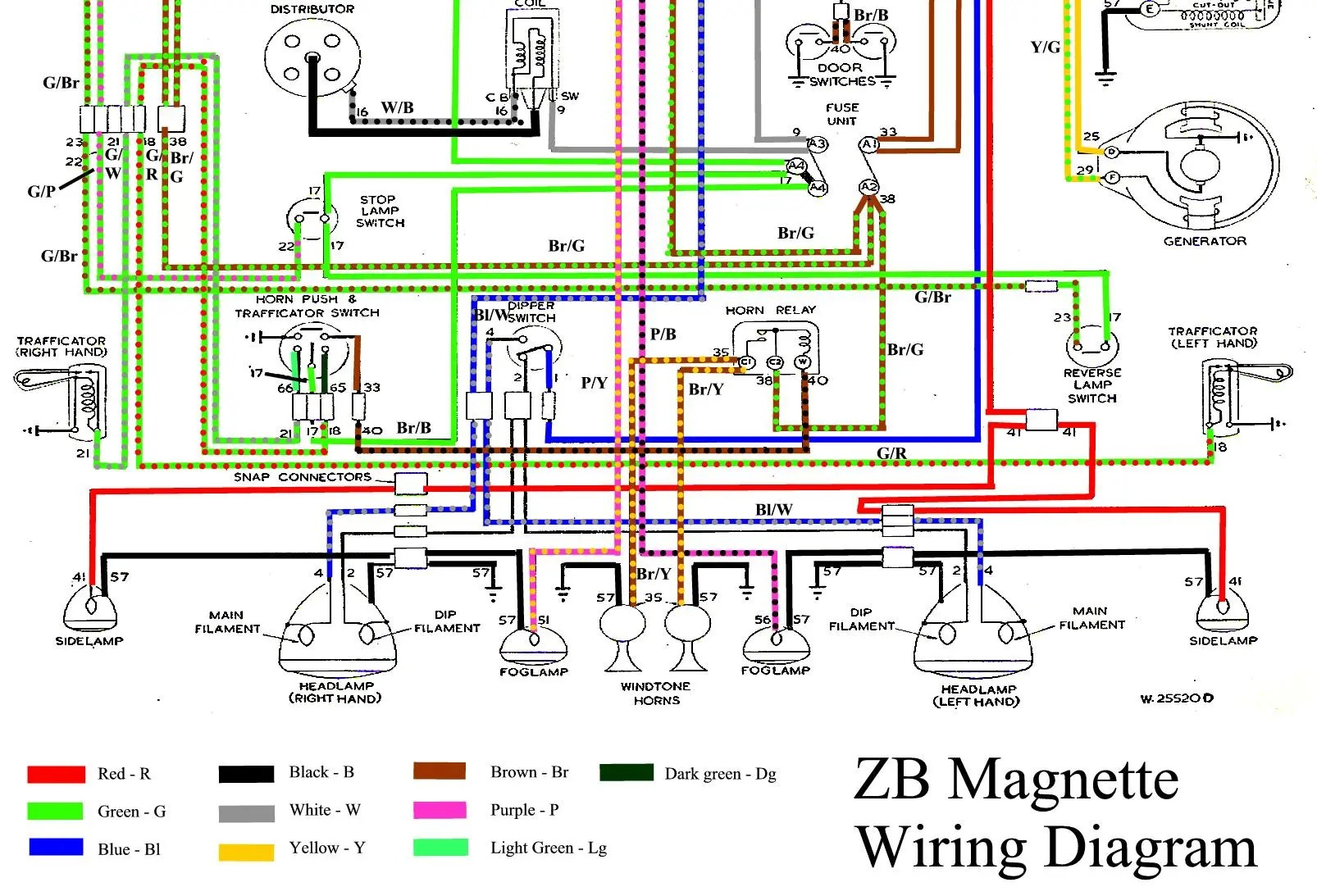 hight resolution of 1955 mg wiring diagram wiring diagram usedwiring diagram zb magnette in colour 1955 mg wiring diagram