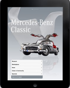 iPhone Applikation Mercedes-Benz Classic