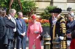 The Queen Arrives in Birmingham