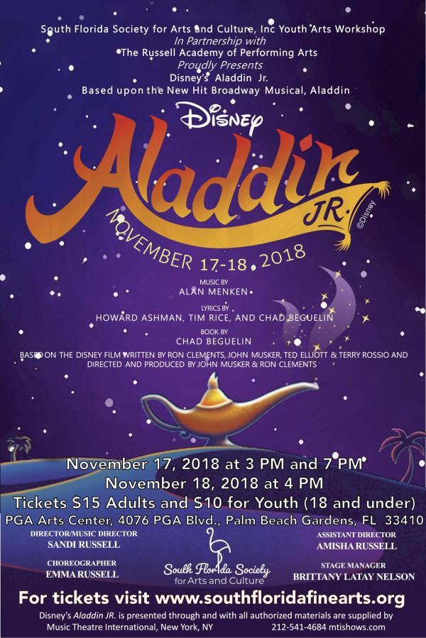 Disney' Aladdin Jr. Broadway Version Tickets In Palm