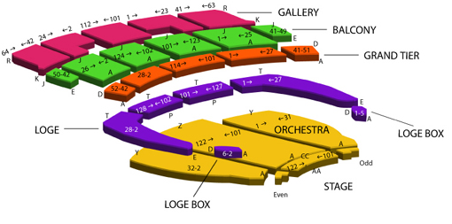 Orpheum theater seating chart also rh ticketomaha