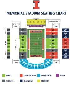 Illinois football seating map also ticket office fightingillini rh ticketsghtingillini