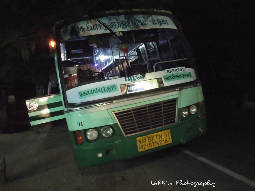 Coimbatore – Ponnamaravathi [TN 57 N 2187]