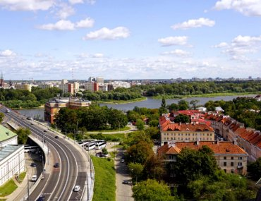 Vistula River and Eastern side of Warsaw