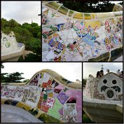 Collage with mosaics Barcelona