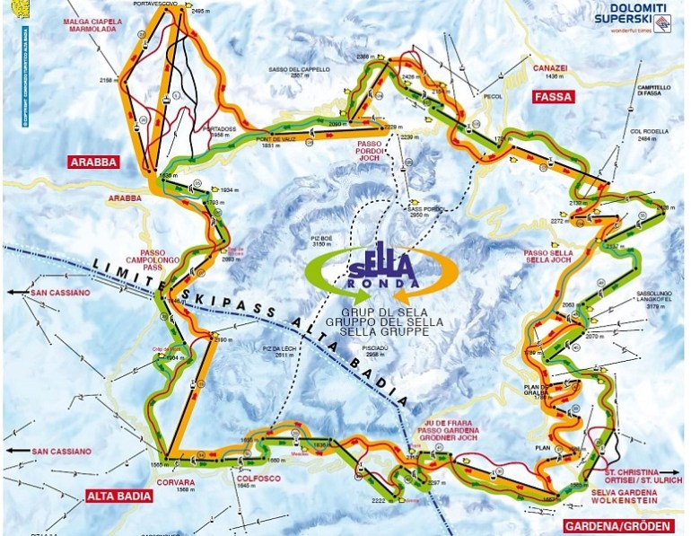 sella-ronda-dolomites-map