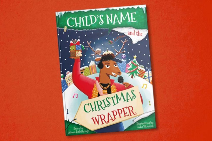 Personalised-book-christmas-wrapper-red-bg