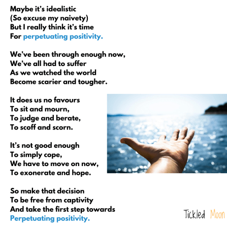 Peachy poetry for perpetuating positivity