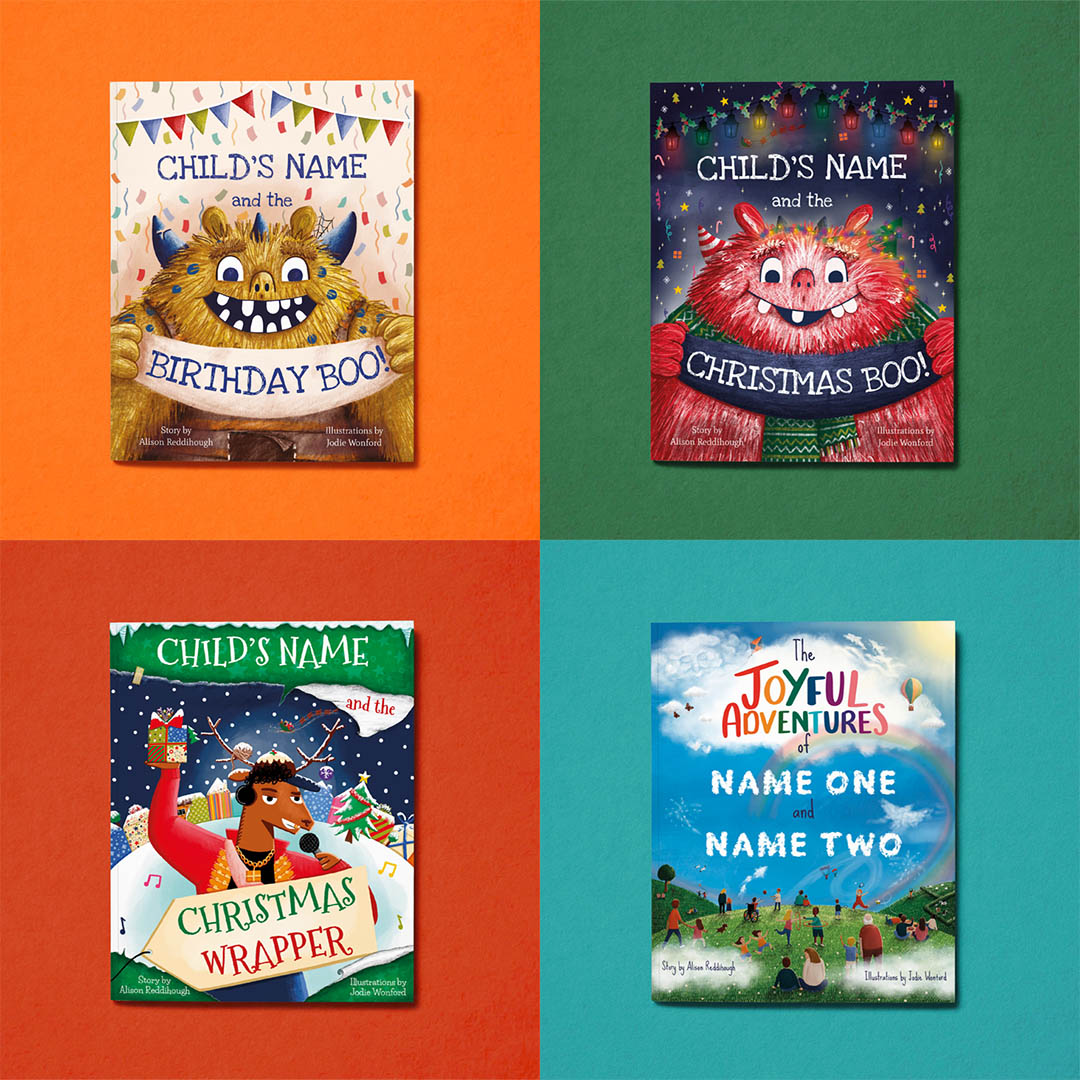 Tickled Moons 4 personalised books