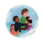 4 people cuddling