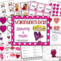 Valentine's Day Center & a FREEBIE