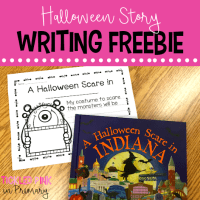 free halloween writing prompt for A Halloween Scare book