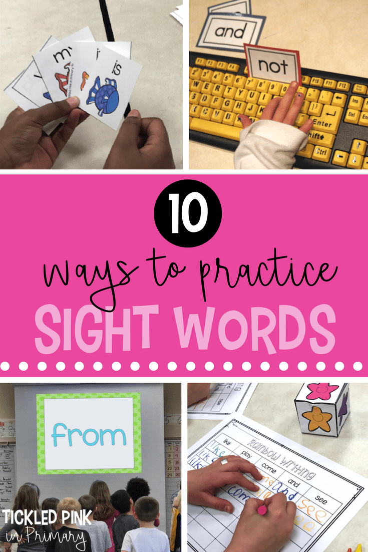 ways to practice sight words pdf