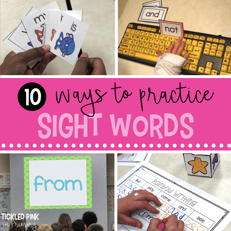 10 Sight Word Activities and Games