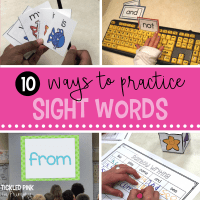10 ideas to practice sight words