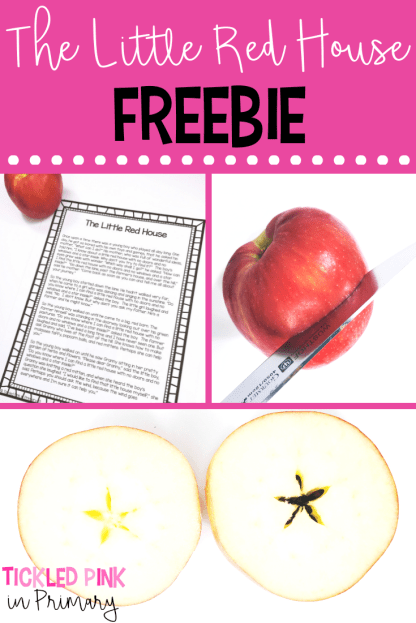 FREE story to use during your apple theme week to show the star in the middle of an apple