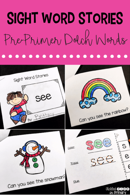 These Sight Word Books are emergent readers for students to work on reading their sight words in simple sentences. This bundle is for the Dolch Pre-Primer words.