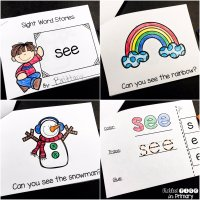 Sight Word Books for Pre-Primer Dolch Words with a FREEBIE