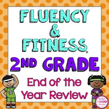 2nd Grade End Of Year Review Fluency Fitness Brain Breaks Tickled Pink In Primary