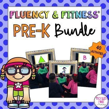 Pre K Fluency Fitness Brain Breaks Bundle Tickled Pink In Primary