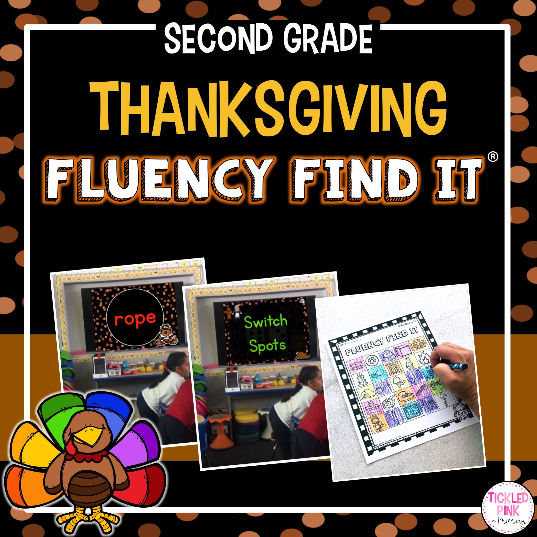 Thanksgiving Fluency Find It 2nd Grade Tickled Pink In