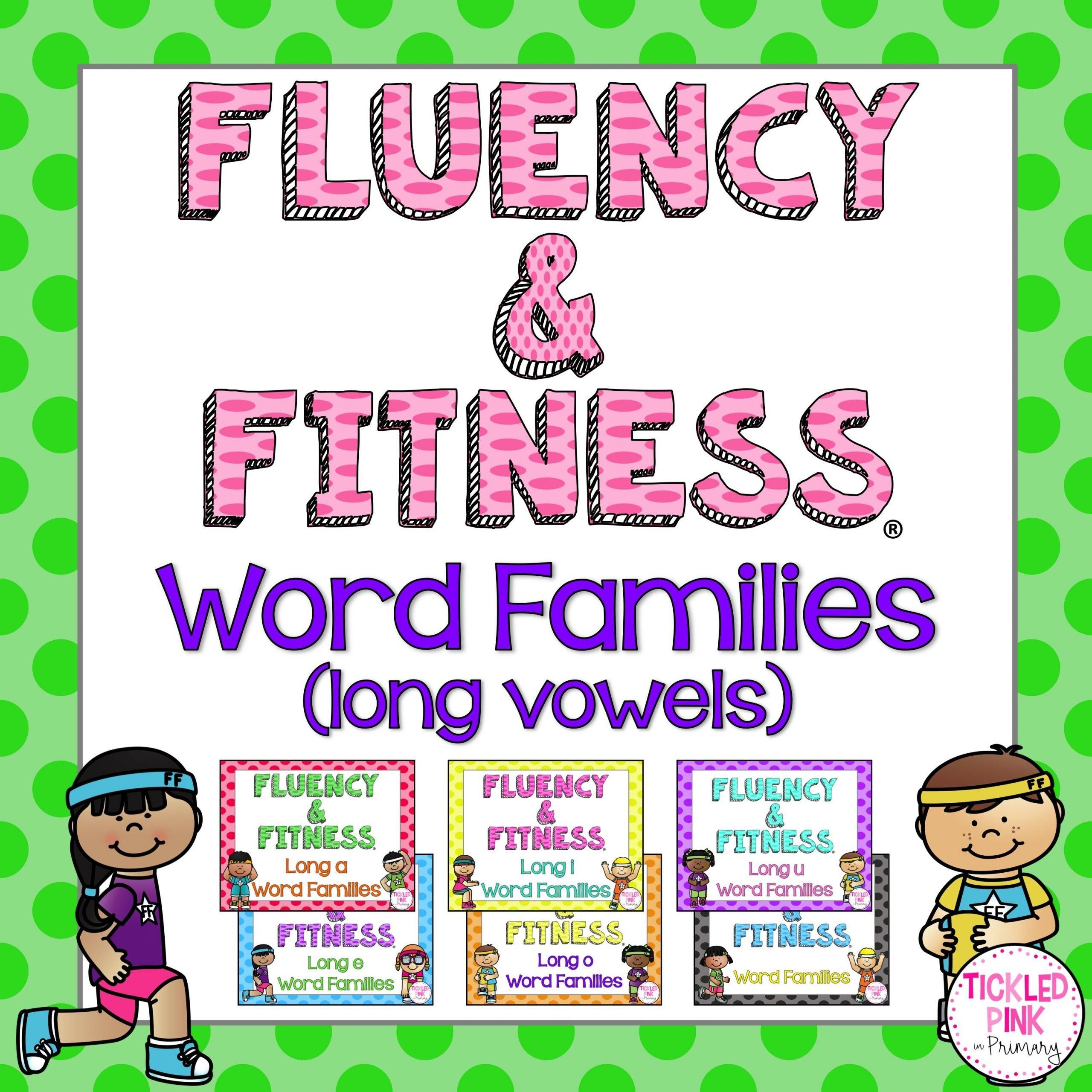 Word Families Long Vowels Fluency Fitness Brain Breaks Tickled Pink In Primary