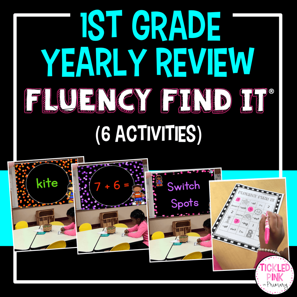 medium resolution of 1st Grade End of Year Review Fluency Find It • Tickled Pink in Primary